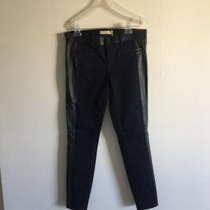 TORY BURCH skiny jeans with leather 🤩